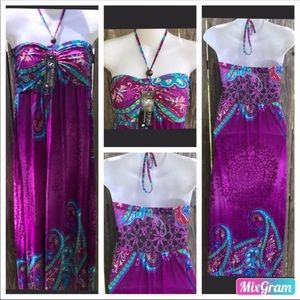 Strapless Maxi Dress size Large